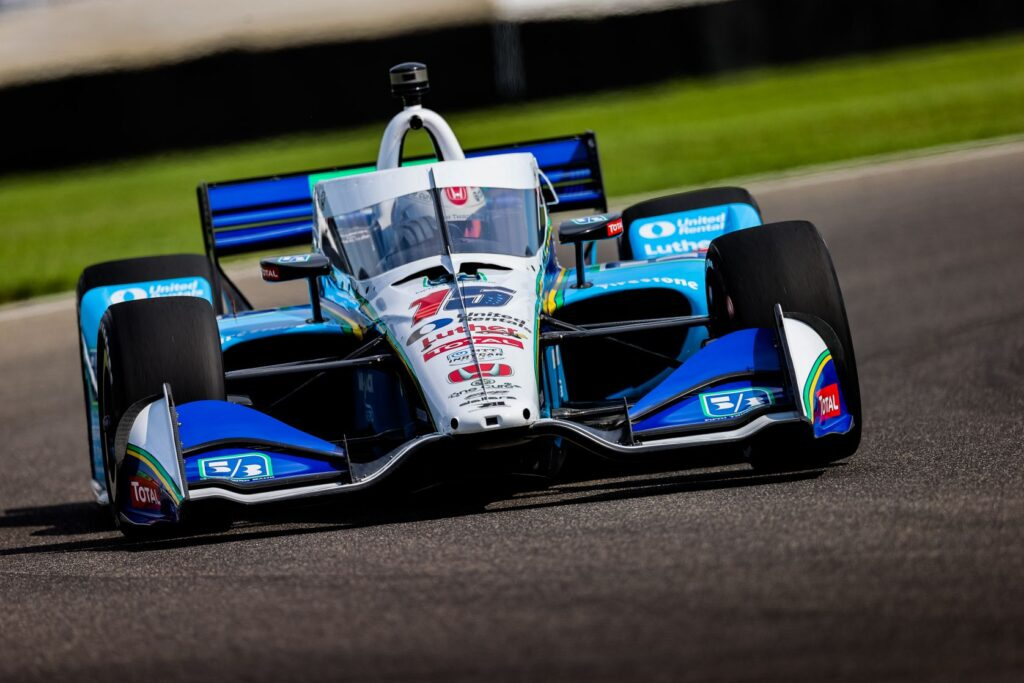 Graham Rahal finished second in the GMR Grand Prix. © [Andy Clary/ Spacesuit Media]