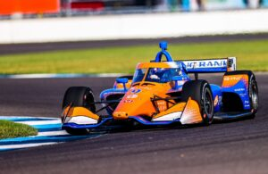 Scott Dixon of Chip Ganassi Racing won the GMR Grand Prix in Indianapolis. © [Andy Clary/ Spacesuit Media]