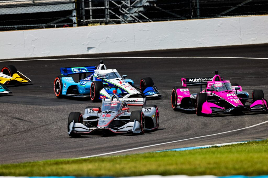 The start of the GMR Grand Prix at the Indianapolis Motor Speedway. © [Andy Clary/ Spacesuit Media]