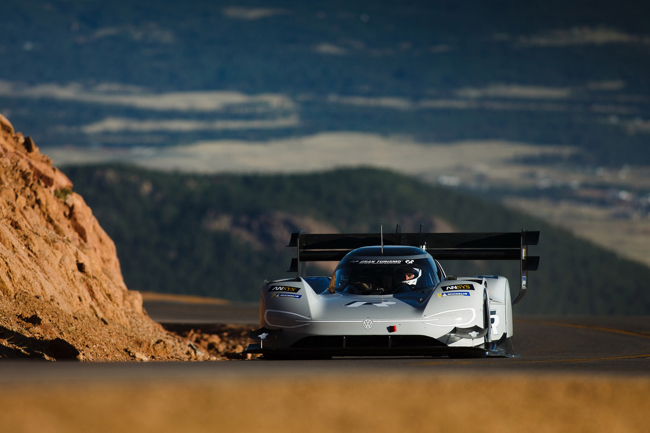 Volkswagen I.D. R at Pikes Peak. [Photo credit: Volkswagen]