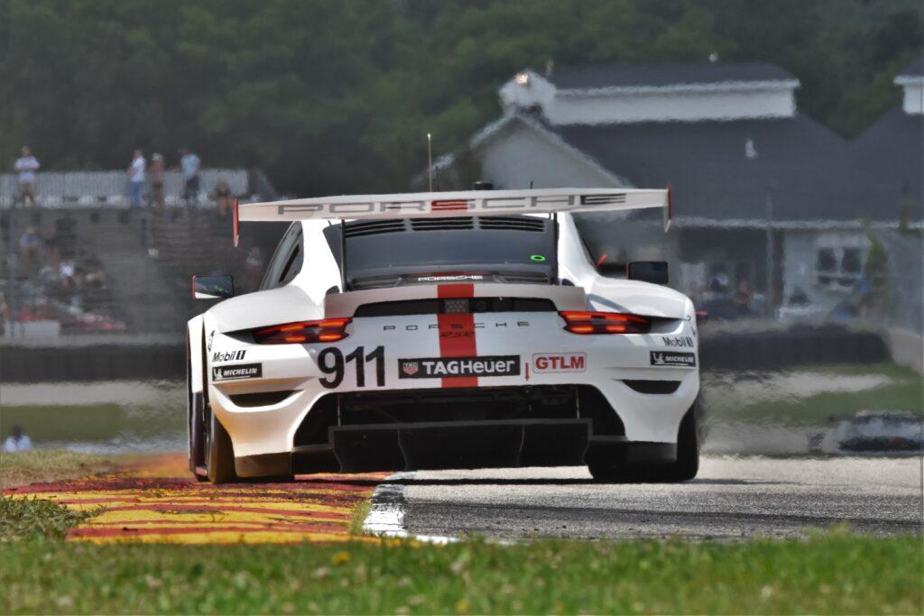 Porsche #911 races down to Turn 8. [John WIedemann Photo]