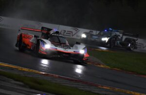 Helio Castroveves drives the Team Penske Acura to the win at Road America ahead of the Wayne Taylor Racing Cadillac DPi. [John Wiedemann Photo]