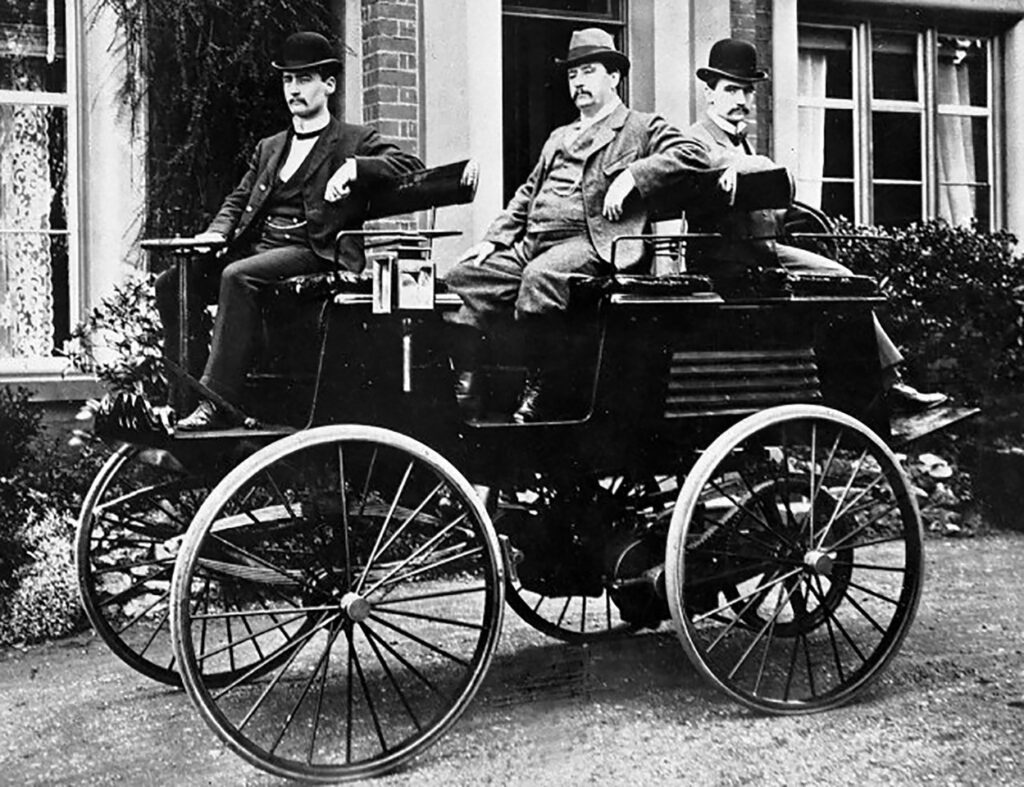 Early electric car.