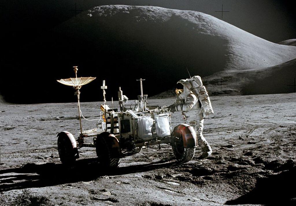 Lunar excursion vehicle. [Photo credit: NASA]
