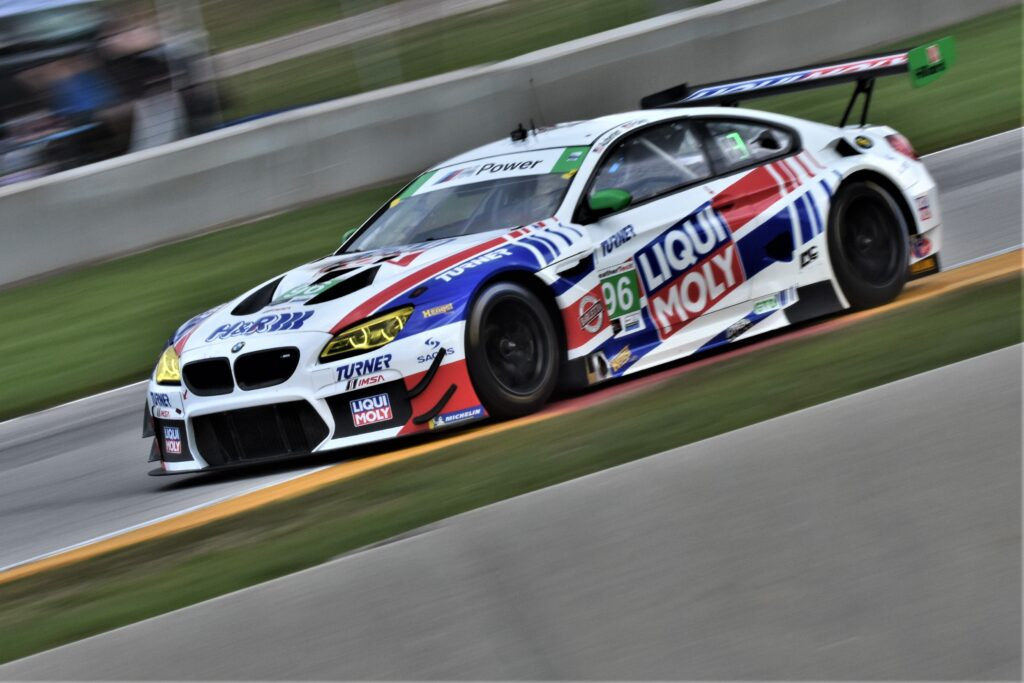 BMW into Turn 7 at Road America. [John Wiedemann Photo]