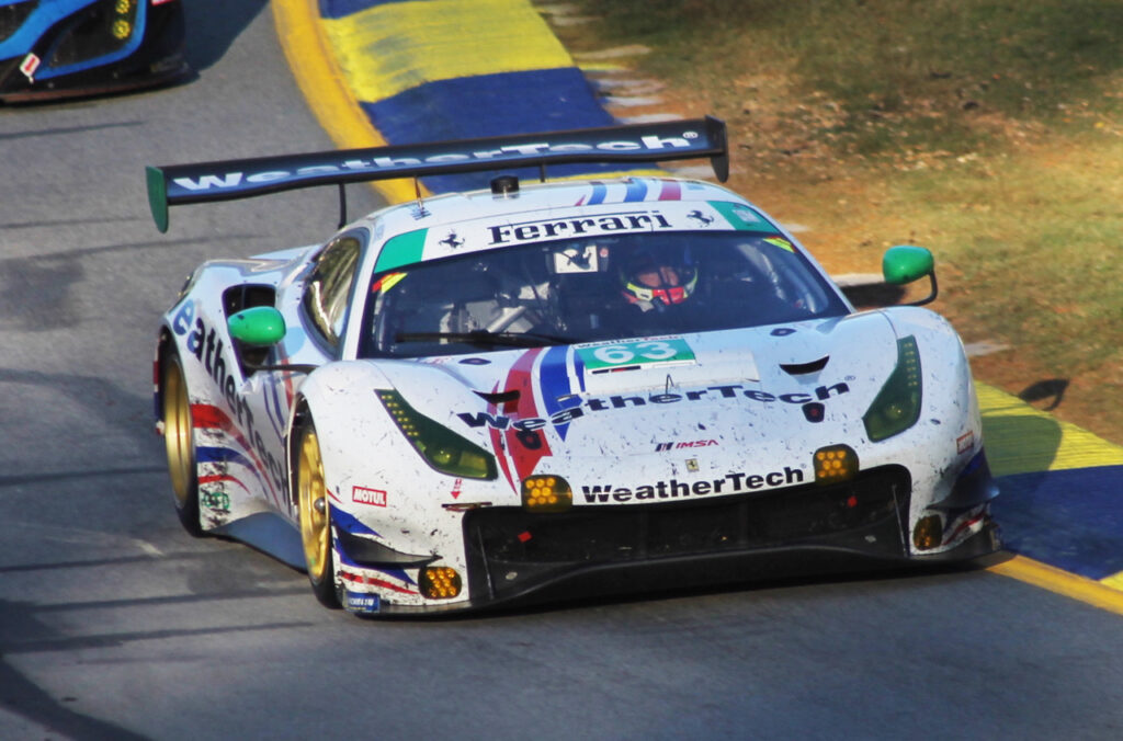 GTD class winning Ferrari. [Photo by Roger Warrick]