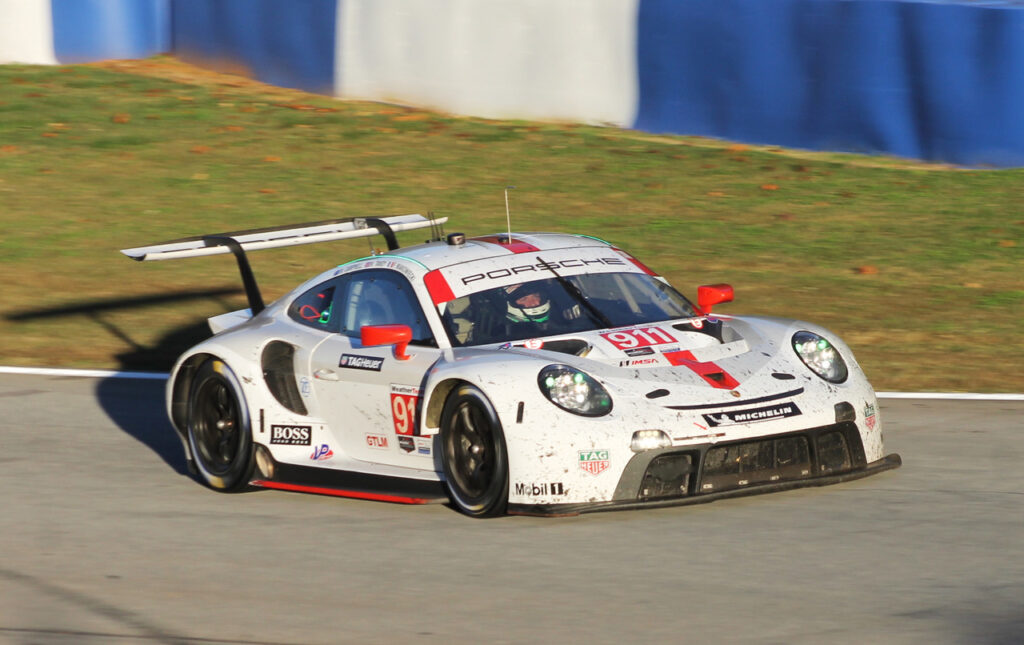 GTLM winning Porsche. [Photo by Roger Warrick]