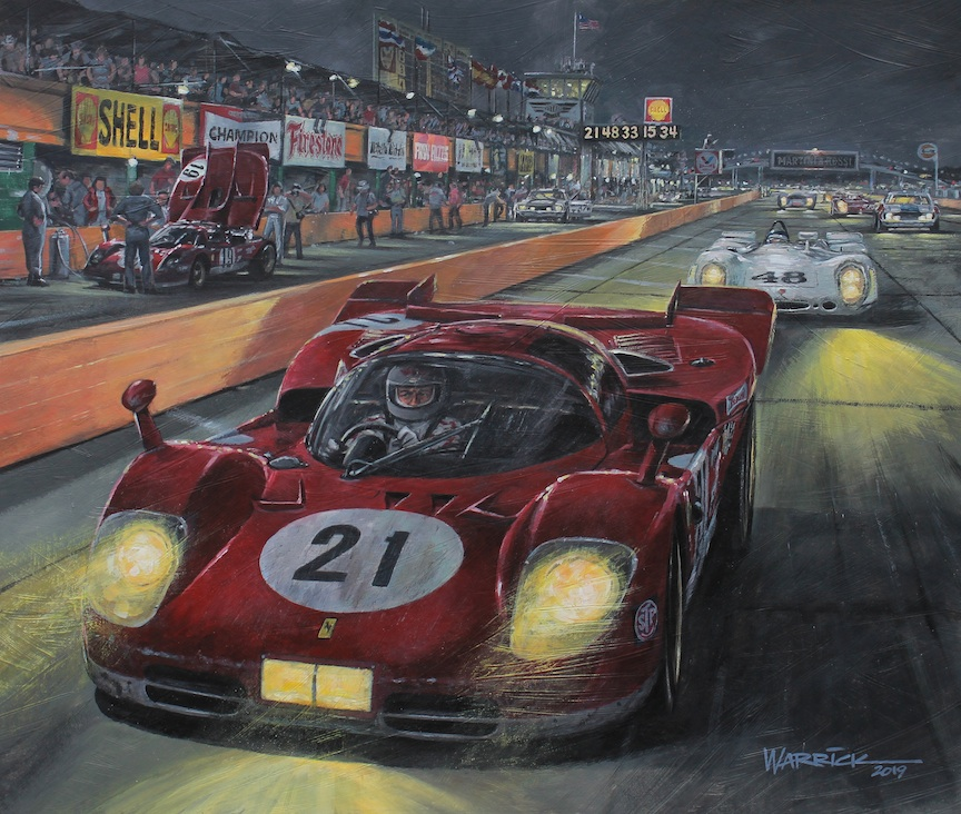 Sebring 1970. [Artwork by Roger Warrick]