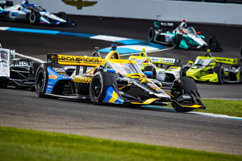 James Hinchcliffe in the Andretti Autosport #26 at the Indianapolis Motor Speedway. © [Kenneth Midgett/ Spacesuit Media]