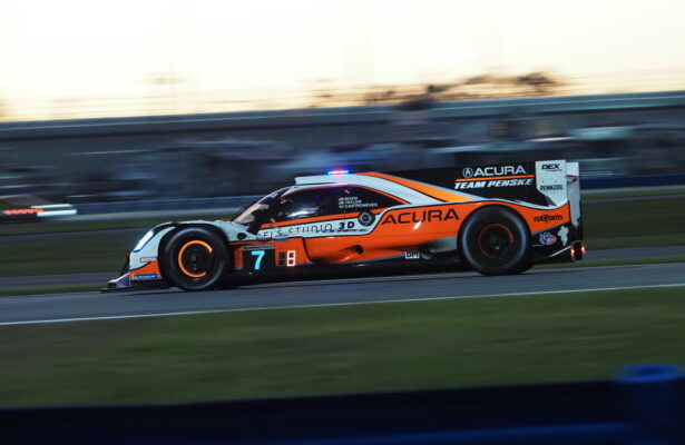 Pole winning Penske Acura. [Photo by Jack Webster]