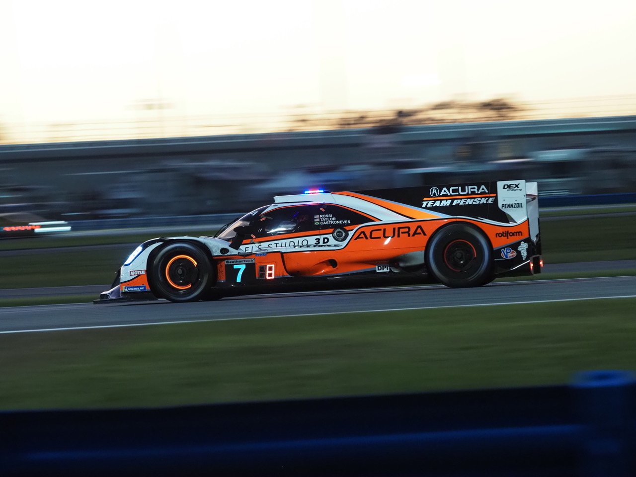 Pole winning Penske Acura. [Photo by Jack Webster]