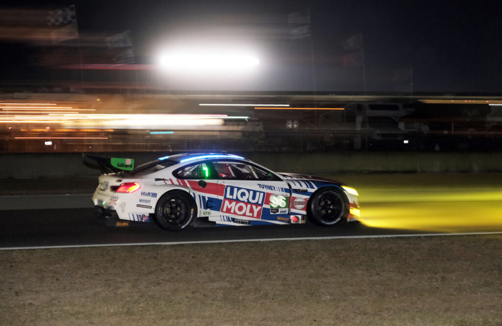 GTD BMW at night. [Jack Webster Photo]