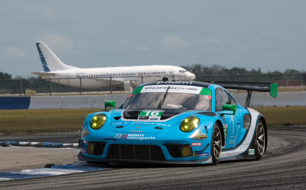 Racing among the airplanes. [Jack Webster Photo]