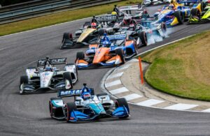Takuma Sato leads the pack at Barber Motorsports Park in 2019. © [Andy Clary/ Spacesuit Media]