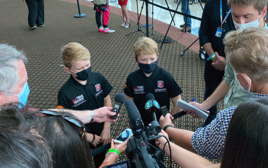 Future stars being interviewed. [Photo by Eddie LePine]
