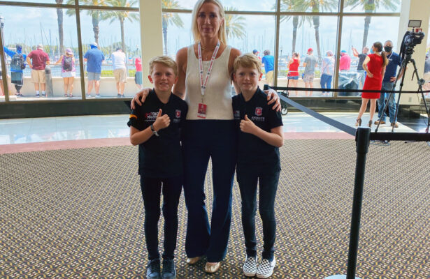 The Wheldon family at St. Pete. [Photo by Eddie LePine]