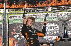 Pato O'Ward captures his first IndyCar Series win at Texas Motor Speedway. [Chris Owens Photo]