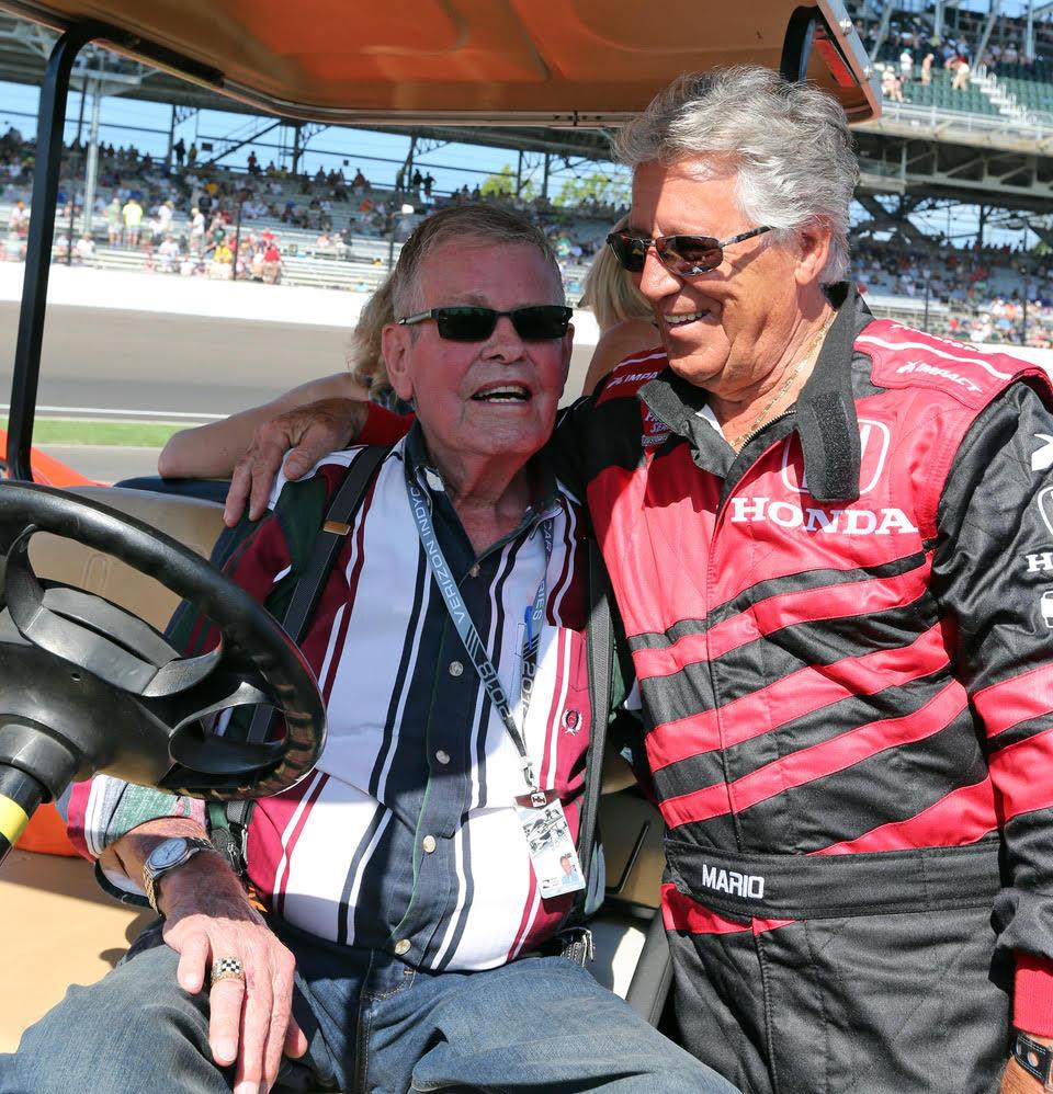 Bobby Unser and Mario Andretti. [Richard Dowdy photo]