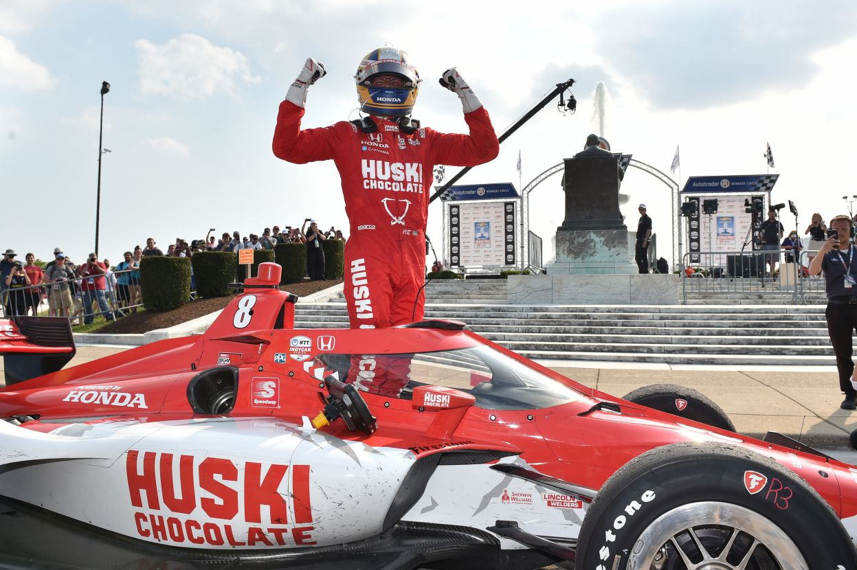 Marcus Ericsson - winner of Race 1 in the Chevrolet Grand Prix of Detroit. [Photo by: Chris Owens]