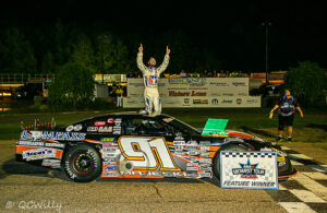 Ty Majeski, winner of the Larry Detjens Memorial 125 at State Park Speedway in Wausau, WI. [QCWilly Photography]
