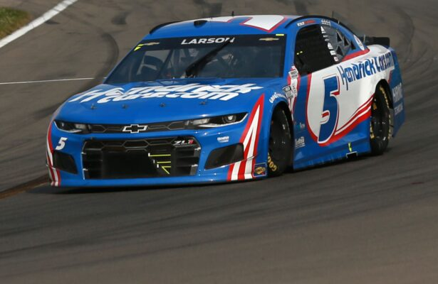 Kyle Larson drives during the NASCAR Cup Series Go Bowling at The Glen at Watkins Glen International. (Photo by Sean Gardner/Getty Images)